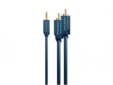 Audio kabelis 3.5mm - 2xRCA 1m Clicktronic 5