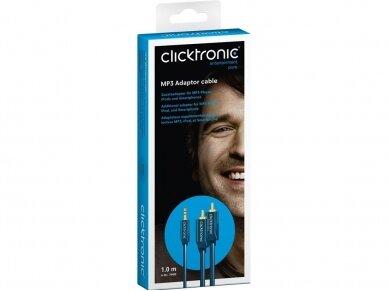 Audio kabelis 3.5mm - 2xRCA 1m Clicktronic 6