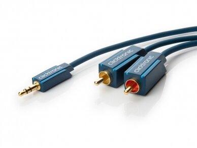Audio kabelis 3.5mm - 2xRCA 1m Clicktronic