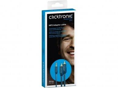 Audio kabelis 3.5mm - 2xRCA 3m Clicktronic 6