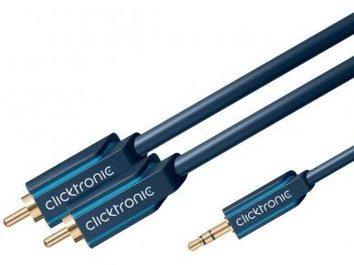 Audio kabelis 3.5mm - 2xRCA 7.5m Clicktronic 4