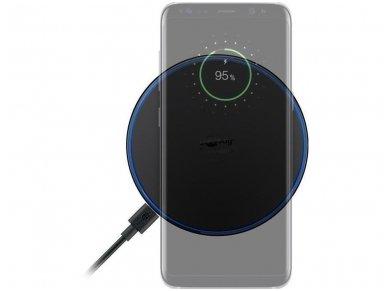 Belaidis mobilaus telefono įkroviklis, Qi, 10W, juodas 4
