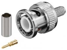 BNC užspaudžiamas kištukas RG58 kabeliui