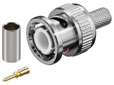 BNC užspaudžiamas kištukas RG59 kabeliui