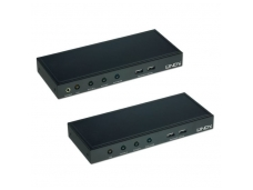 Lindy CAT5 KVM Extender with Dual VGA. USB & Audio. 200m