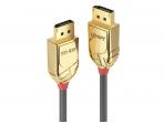 DisplayPort kabelis 0,5m 8K UHD DP1.4, 32.4Gbps, GOLD Line