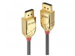 DisplayPort kabelis 3m 8K UHD DP1.4, 32.4Gbps, GOLD Line