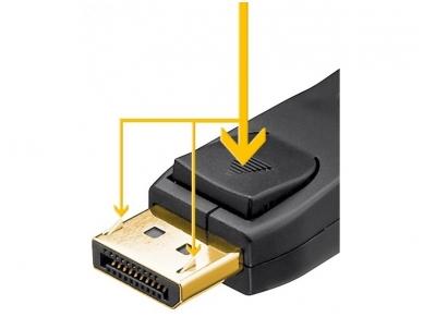 DisplayPort kabelis 1m DP1.2 3D, 4K, 2K prie 30Hz 2