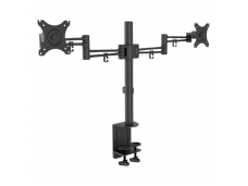 LINDY Double LCD Monitor Arm With Pole And Desk Clamp