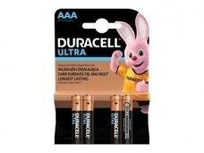Duracell Ultra maitinimo elementas LR3, AAA, 1.5V 4vnt.