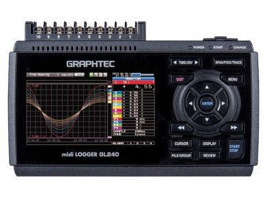 Duomenų kaupiklis GL240, Graphtec