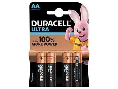 Duracell Ultra maitinimo elementas LR6, AA, 1.5V 4vnt.