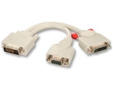 DVI-I M - DVI-D F+VGA F perėjimas, Lindy