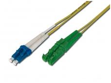 E2000APC/LC dvigubas vienmodis komutacinis kabelis 15m, P