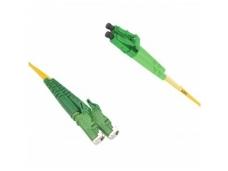 E2000APC/LCAPC dvigubas vienmodis komutacinis kabelis 2m, P