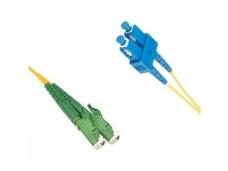 E2000APC/SC dvigubas vienmodis komutacinis kabelis 2m, P
