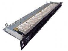 Ekranuota komutacinė panelė, 24 portų, kategorija 6 (0,5U)
