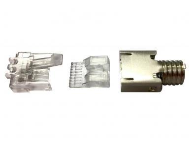 Ekranuotas kištukas RJ45 6cat. stranded-solid, 5.1-6.0mm 2