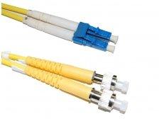 FC/LC dvigubas vienmodis komutacinis kabelis 2m