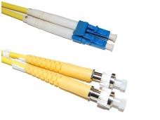 FC/LC dvigubas vienmodis komutacinis kabelis 5m