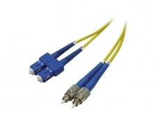 FC/SC dvigubas vienmodis komutacinis kabelis 20m