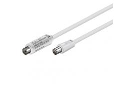 Galvaninis izoliatorius IEC(M)-IEC(F)5-1000MHz, 1.5m, baltas