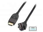 HDMI 2.0 cat2 4K kabelis 5m su pasukamomis jungtimis