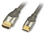 HDMI 2.0 cat2 - mini HDMI kabelis 0.5m, CROMO