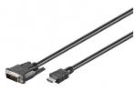 DVI-D - HDMI kabelis 5m 1080p