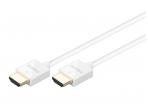 HDMI kabelis 0.5m 4K baltas, 4mm storio
