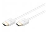 HDMI kabelis 1m 4K baltas, 4mm storio