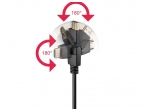 HDMI kabelis 3m 1080p 1.4 su pasukamomis 360L jungtimis