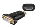 DVI F - HDMI M perėjimas, paauksuotas
