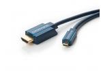 HDMI - micro HDMI kabelis 2m Clicktronic 2160p 1.4