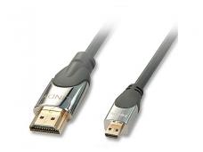 HDMI 2.0 cat2 - micro HDMI kabelis 0.5m, CROMO