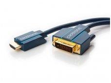 HDMI - DVI-D kabelis 15m 4K Clicktronic, dvikryptis