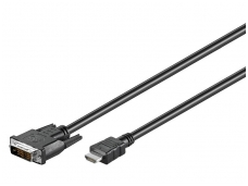 DVI-D - HDMI kabelis 1m 1080p