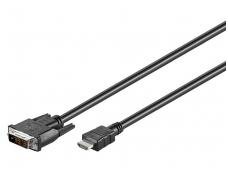 DVI-D - HDMI kabelis 2m 1080p
