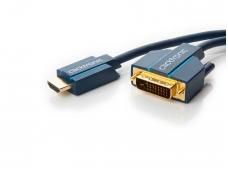 HDMI - DVI-D kabelis 7.5m 4K Clicktronic, dvikryptis