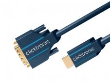 HDMI - DVI-D kabelis 20m 4K Clicktronic, dvikryptis