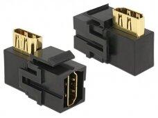 HDMI F - HDMI F kampinis perėjimas, Keystone, juodas
