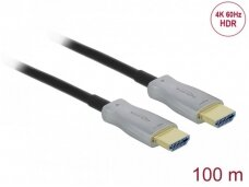 HDMI optinis kabelis 100m, 4K 60Hz 18G