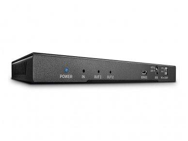 HDMI 2.0 18G šakotuvas 1>2 4K 60Hz su audio