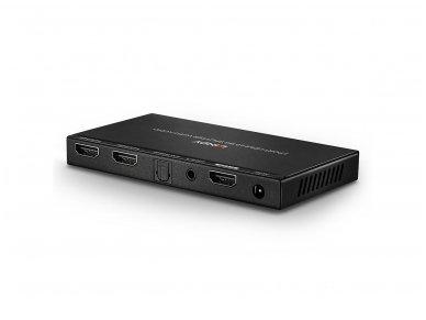 HDMI 2.0 18G šakotuvas 1>2 4K 60Hz su audio 4
