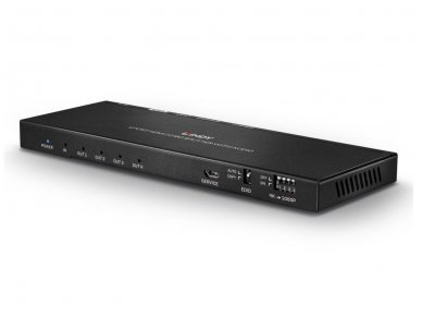 HDMI 2.0 18G šakotuvas 1>4 4K 60Hz su audio 5