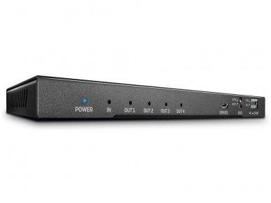 HDMI 2.0 18G šakotuvas 1>4 4K 60Hz su audio