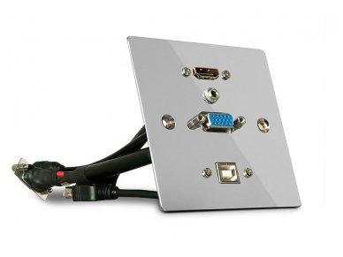 HDMI 2.0, VGA, USB B panelė, 4K