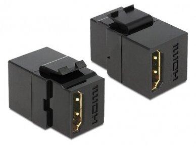 HDMI F - HDMI F perėjimas, Keystone, juodas