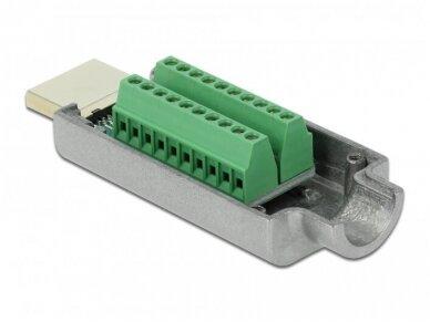 HDMI jungtis, tvirtinama su varžteliais 3