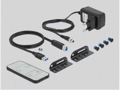 HDMI KVM perjungėjas 4>1, USB3.0, 4K, audio 4